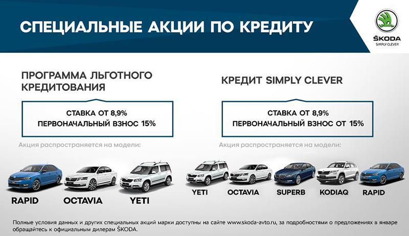 ŠKODA AUTO Россия с 01 апреля снижает процентную ставку на приобретение автомобилей бренда
