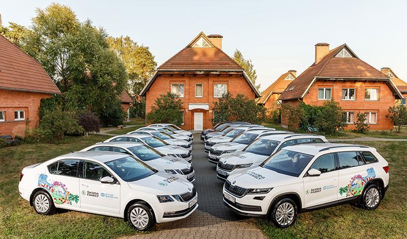 ŠKODA AUTO Россия обновила автомобильный парк в благотворительной организации «Детские деревни – SOS»