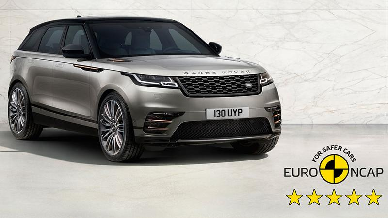 Land Rover:Range Rover Velar получил высшую оценку в рейтинге Euro NCAP