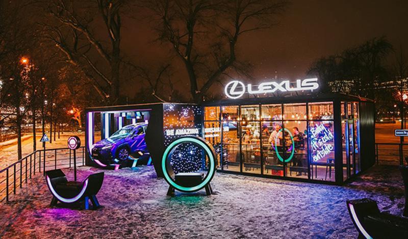Lexus представил новый кроссовер Lexus UX в уникальном пространстве Lexus UX Lounge в Парке Горького в Москве