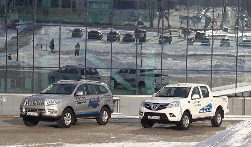 FOTON:В Иркутске были выставлены на экспонирование автомобили FOTON Sauvana и FOTON Tunland