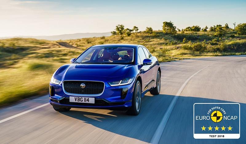 Jaguar I-PACE получил высшую оценку в рейтинге безопасности Euro NCAP