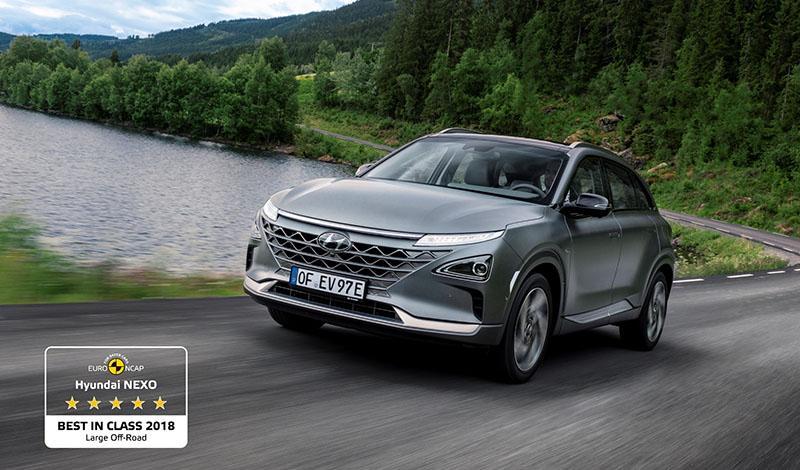 Euro NCAP признал Hyundai Nexo почетного звания «Лучший в своем классе» в 2018 году