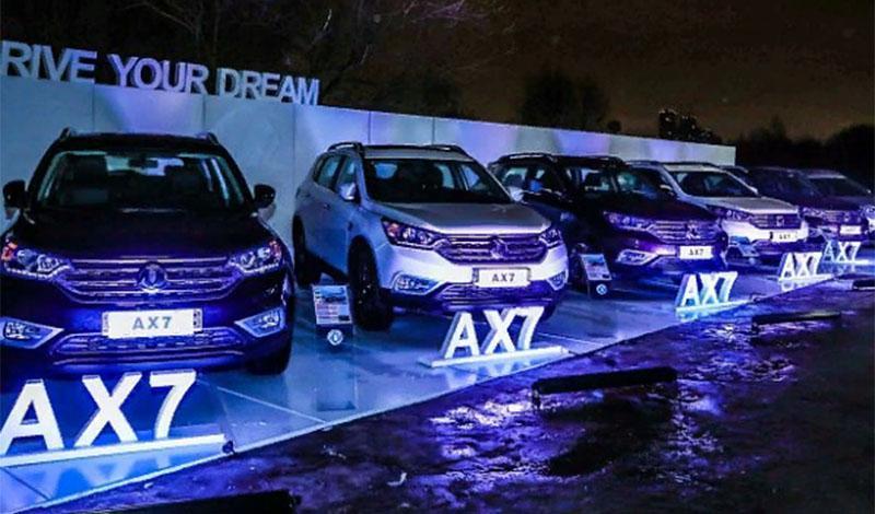 Dongfeng представил два новых кроссовера AX4 и 580