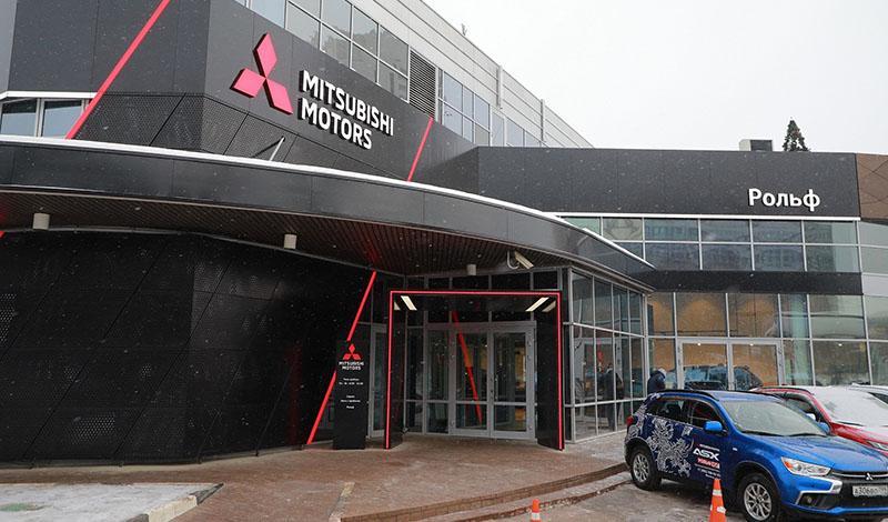 В России открылся первый дилерский центр Mitsubishi в новом дизайне