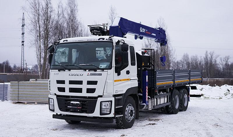 Бортовой грузовик ISUZU GIGA (CYZ52T) c КМУ DY SS2057