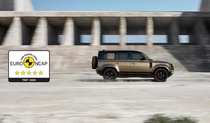 Land Rover Defender 110 получил максимальные 5 звезд