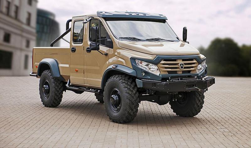 GAZ:Группа ГАЗ» представила образец внедорожного грузовика «Вепрь NEXT»