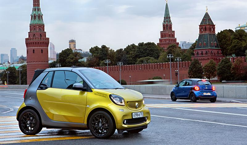 Smart:Smart fortwo и Smart forfour за 1,1 млн рублей до 31.03.2019