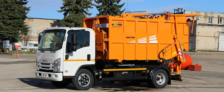 ISUZU представила новинку – мусоровоз с задней загрузкой на шасси ISUZU ELF 9.5