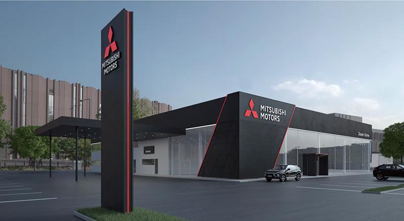 Mitsubishi:Mitsubishi Motors представила новый глобальный дизайн для официальных дилерских центров марки