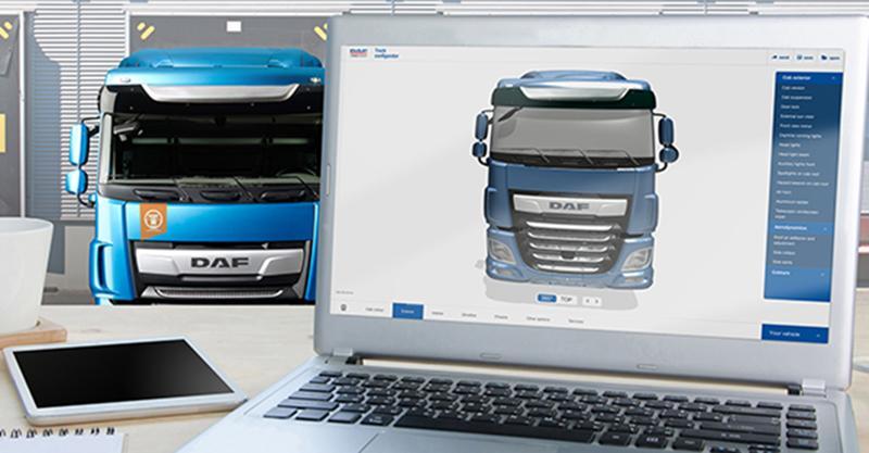 DAF:Компания DAF Trucks установила новый 3D Конфигуратор грузовиков DAF