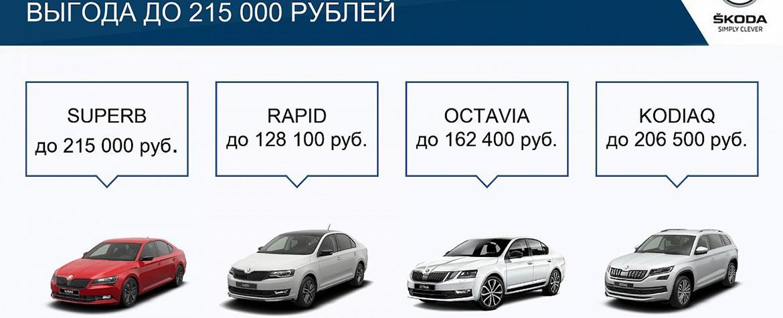 ŠKODA в июле подготовила специальные предложения для клиентов