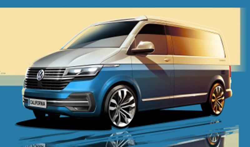 Volkswagen представил первые эскизы нового California 6.1