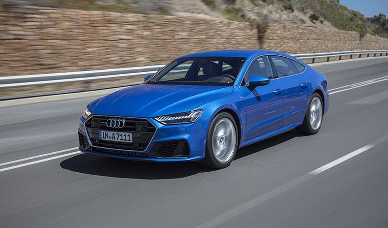 Audi A7 Sportback доступен для заказа с бензиновым двигателем 2.0 TFSI  – 245л.с. (разгон до 100 км/ч =  6,2 с