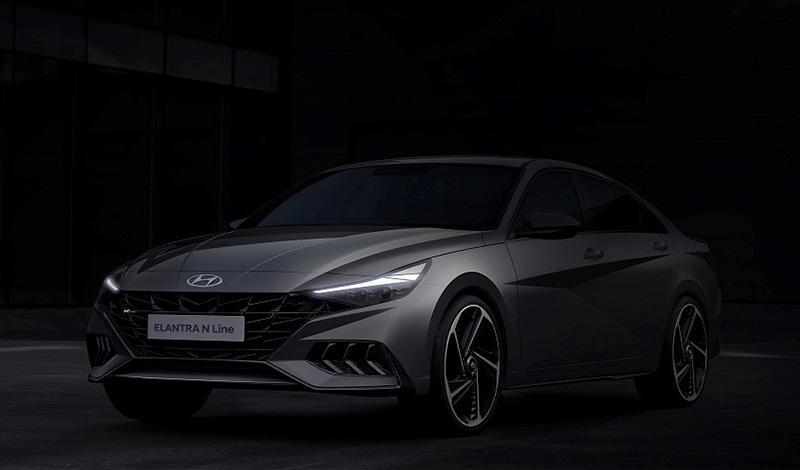 Новый Hyundai Elantra N Line на официальном фото