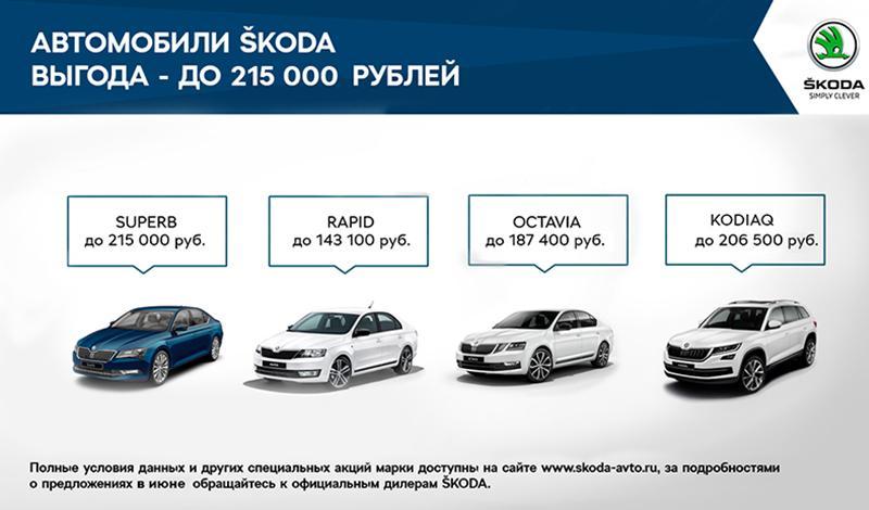 ŠKODA запускает привлекательные условия на приобретение автомобилей марки