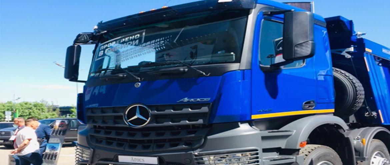 Мерседес представил новый самосвал на шасси Mercedes-Benz Arocs 4145 K