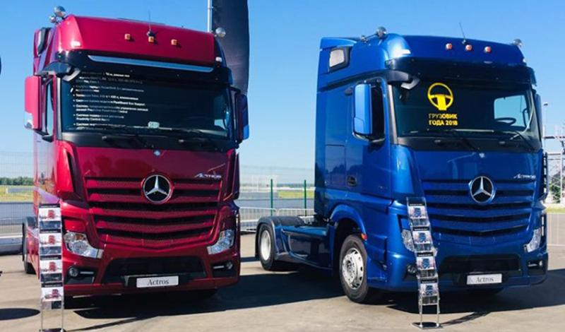 На выставке «АСМАП 2019» Mercedes-Benz представил тягачи Actros 1845 LS и Actros 1848 LS