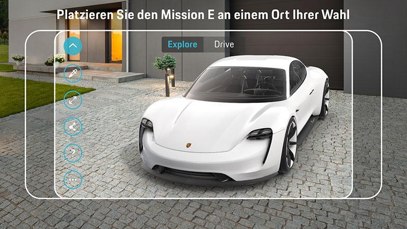 Porsche:Приложение дополненной реальности для электрического спорткара Porsche Mission E