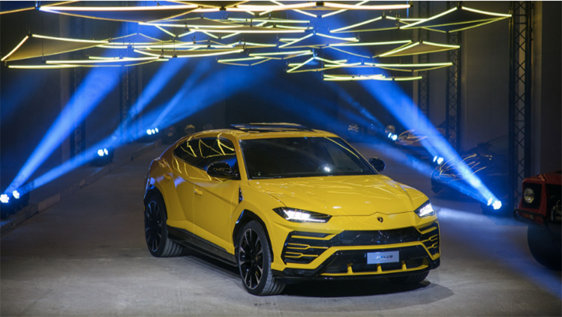 Lamborghini:Суперспортивный внедорожник Lamborghini Urus дебютировал в России