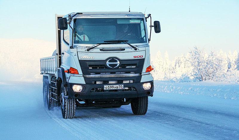 HINO:Hino прошли испытания при низких температурах на Севере России