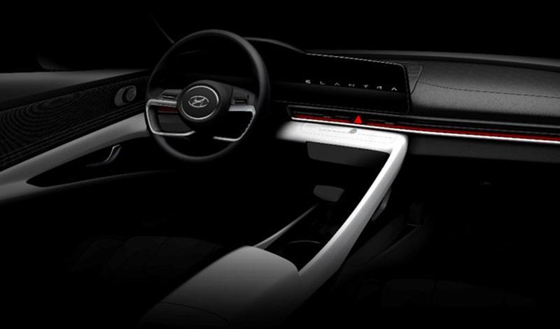 Первые официальные эскизы Hyundai Elantra 2020