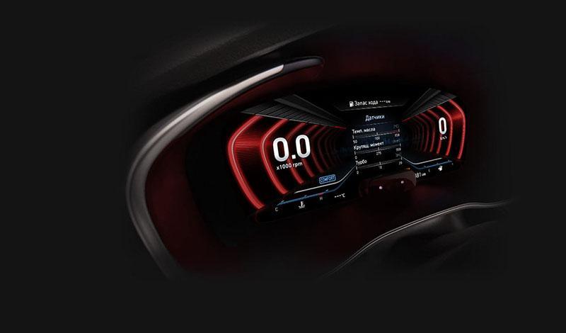 Цифровая приборная панель для Genesis G70 будет доступна в комплектациях Supreme и Sport