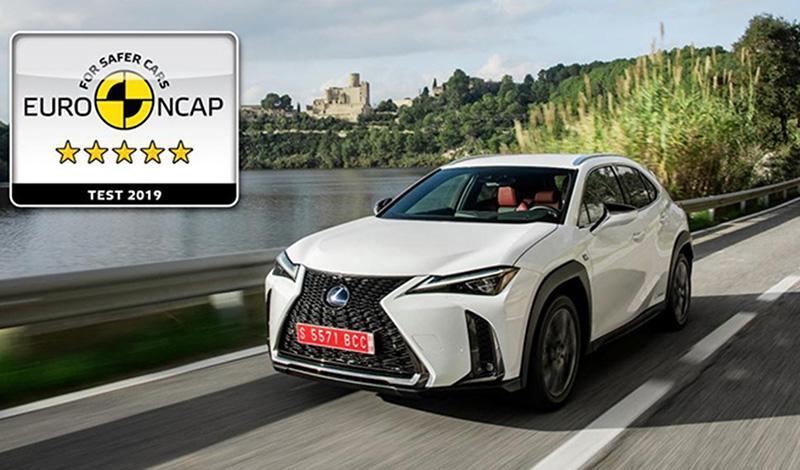 Новый Lexus UX заработал максимальные 5 звезд в рейтинге автомобильной безопасности организации Euro NCAP
