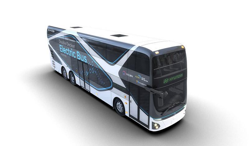 Hyundai представил первый в линейке компании электрический двухэтажный автобус