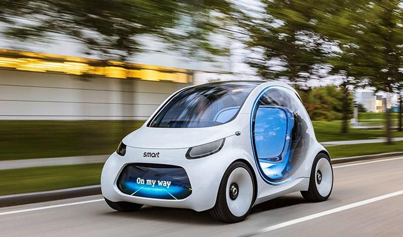 Smart:Smart vision EQ fortwo: концепт беспилотного городского авто