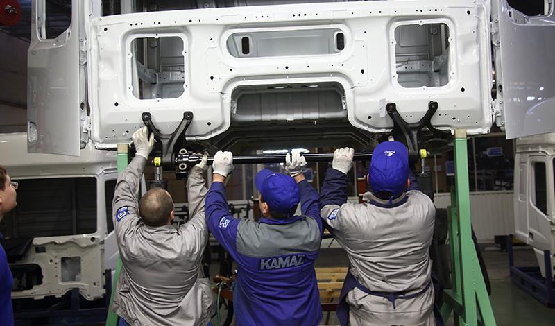 Kamaz:На заводе «КАМАЗа» приступили к сборке первых кабин для грузовиков К5