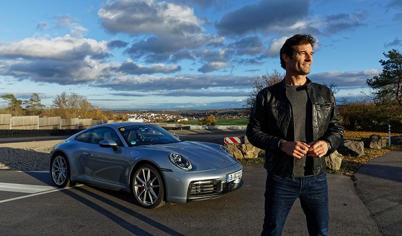 Марк Уэббер провел тест драйв нового Porsche 911 2019 года на гоночной трассе