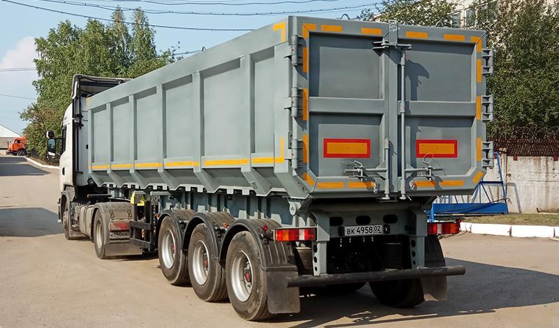 Полуприцеп-металловоз объёмом кузова 36 куб.м