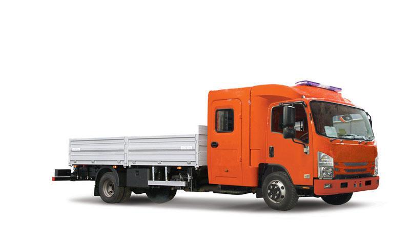 ISUZU представил автомобиль с двухрядной кабиной на шасси ISUZU ELF