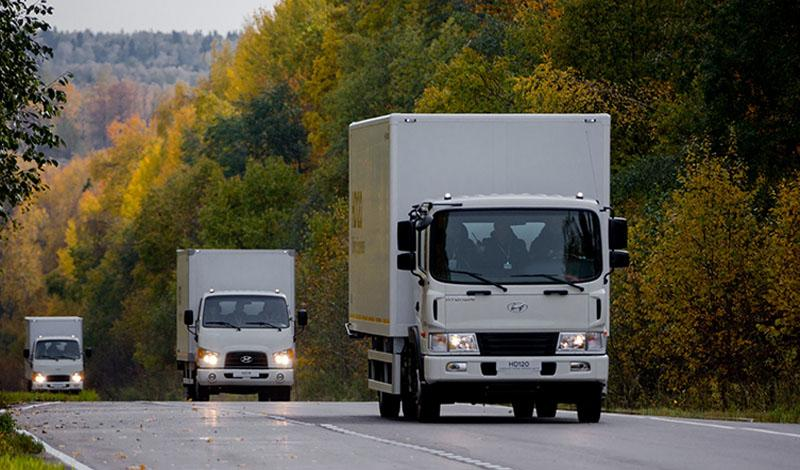 На Дмитровском полигоне НАМИ прошел тест-драйв обновленных грузовиков Hyundai