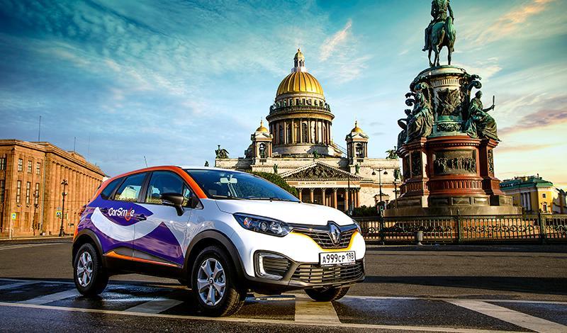 Renault:В автопарке каршеринга СarSmile в Санкт-Петербурге будут доступны кроссоверы Renault Kaptur