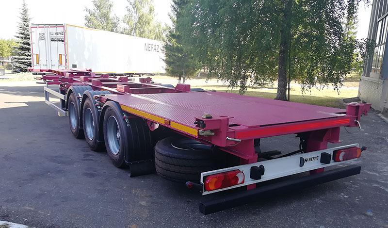 Kamaz:В Башкирии освоили производство универсального полуприцепа-контейнеровоза
