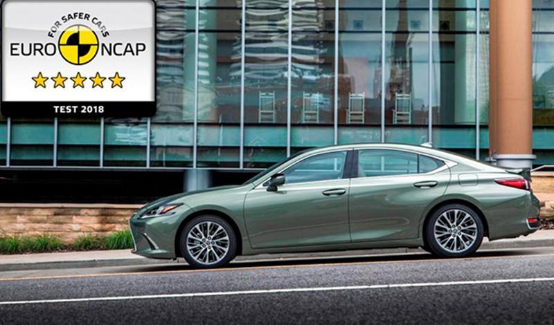 Новый Lexus ES заработал максимальные пять звезд в рейтинге безопасности Euro NCAP 2018