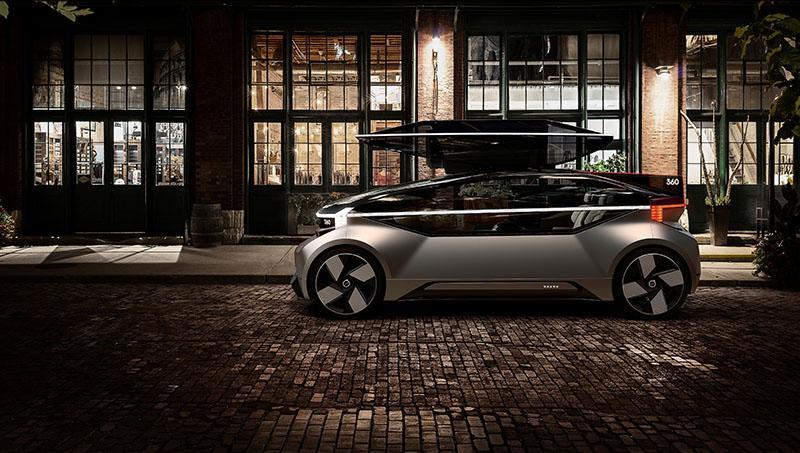 Volvo Cars представляет новый автономный беспилотный электромобиль - 360c