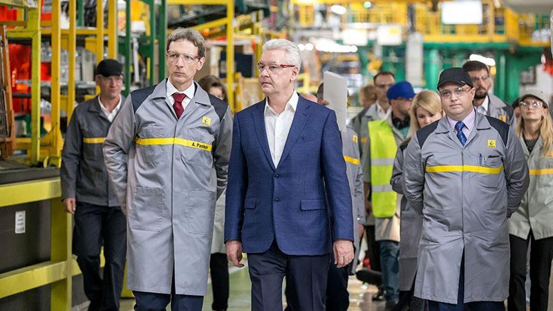 Завод Renault посетил мэр Москвы Сергей Собянин