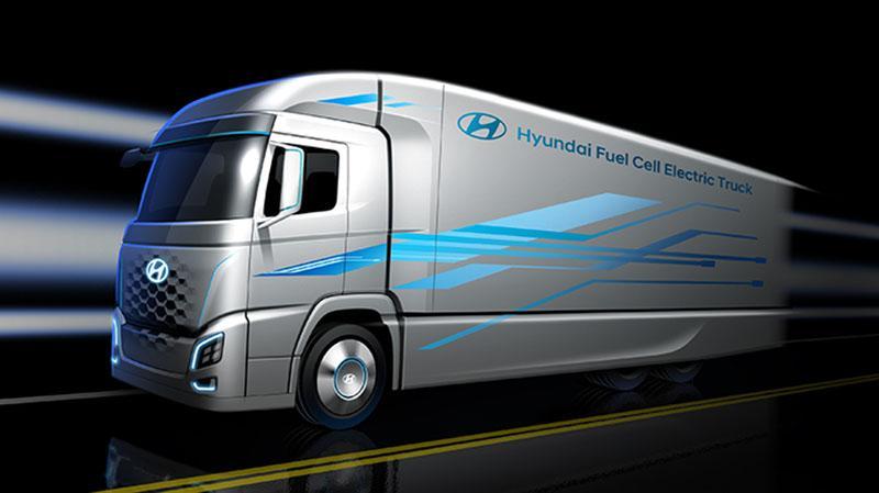 Hyundai обнародовала первое изображение нового электрогрузовика