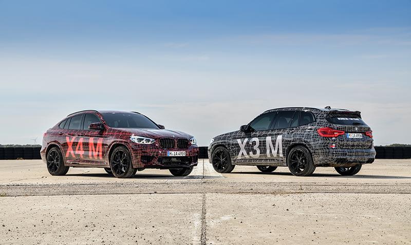 Прототипы будущих BMW X3 M и BMW X4 M дебютировали на гоночной трассе Нюрбургринг